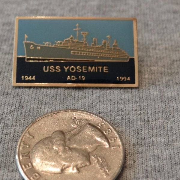 USS Yosemite Miniature Hat Pin