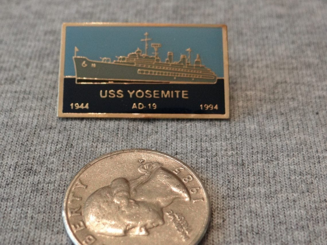USS Yosemite Miniature Hat Pin