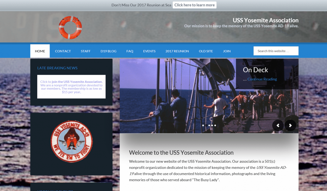 new uss yosemite association website