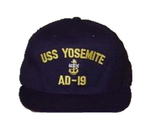 USS Yosemite Chief's hat with insignia