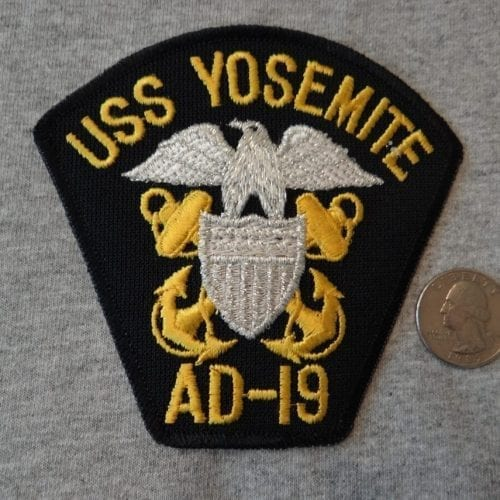 USS Yosemite Officer Shoulder Patch